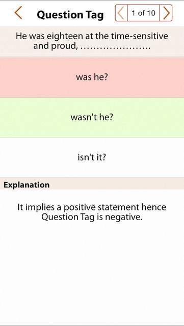 Grammar Express: Question Tag screenshot 4