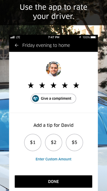Uber - Request a ride screenshot 10