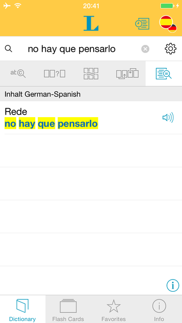Spanish <-> German Talking Dictionary Basic screenshot 2