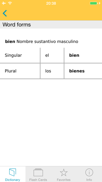 Spanish <-> German Talking Dictionary Basic screenshot 5