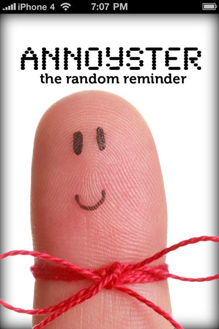 Annoyster - The Random Reminder screenshot 1
