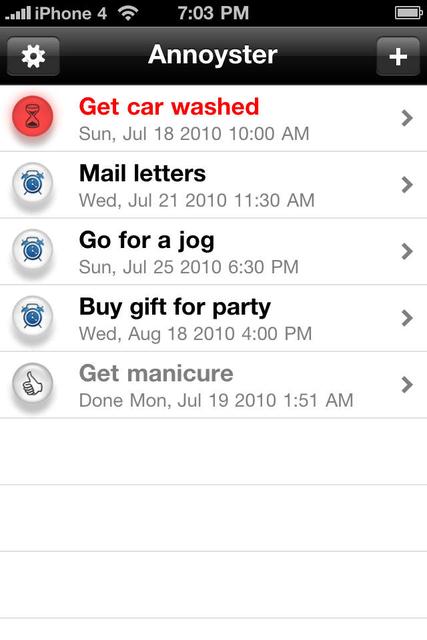 Annoyster - The Random Reminder screenshot 2