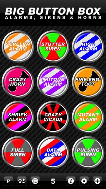 Big Button Box: Alarms, Sirens & Horns - sound fx screenshot 10