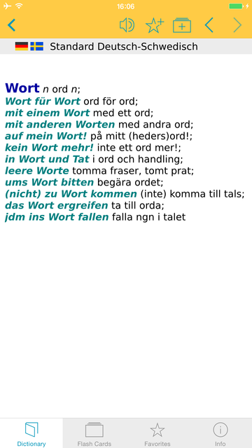 German - Swedish Dictionary screenshot 5