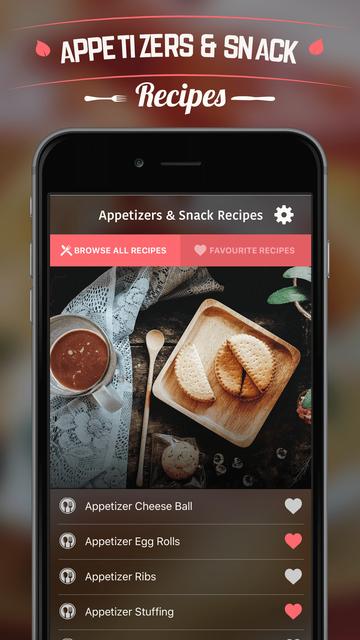 Appetizers & Snack Recipes screenshot 1