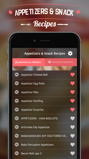 Appetizers & Snack Recipes screenshot 2