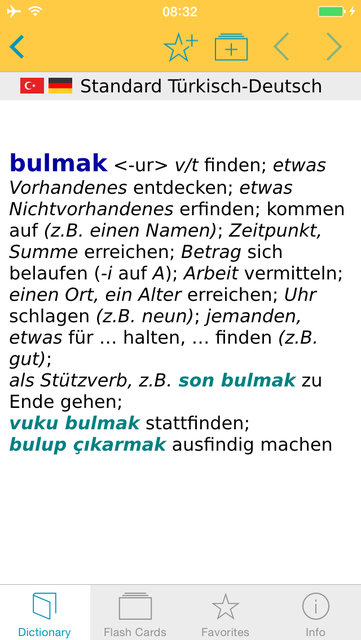 Turkish <-> German Dictionary Standard screenshot 5