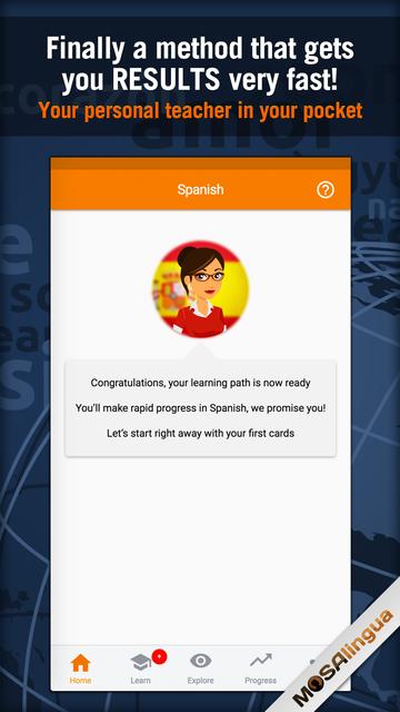 Learn Spanish - MosaLingua screenshot 1