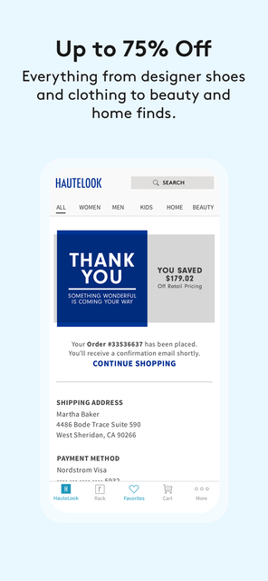 HauteLook | Nordstrom Rack screenshot 6