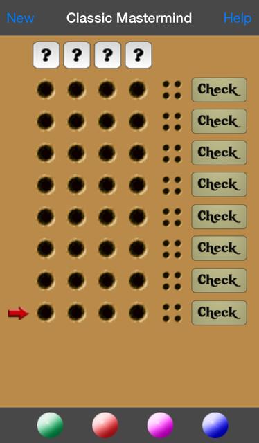 Classic Mastermind screenshot 1