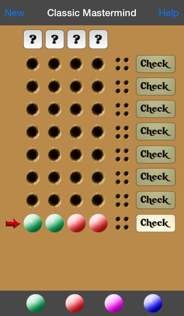 Classic Mastermind screenshot 2