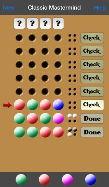 Classic Mastermind screenshot 3