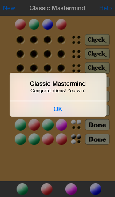 Classic Mastermind screenshot 4