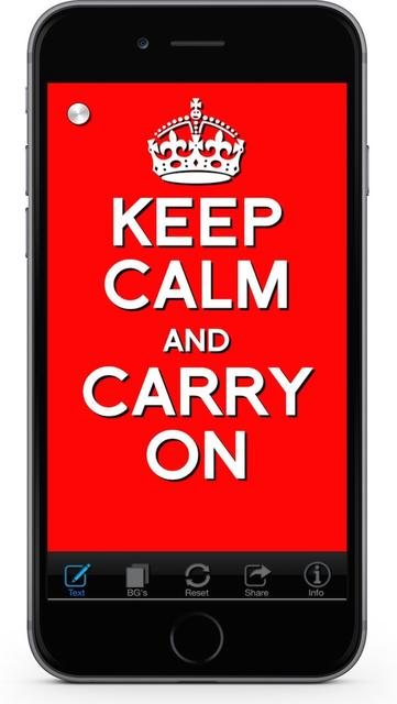 Keep Calm & Carry On:Original screenshot 1