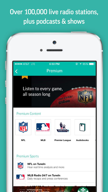 TuneIn: Radio, NFL & Podcasts screenshot 2