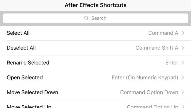 Shortcut: After Effects Edition screenshot 4