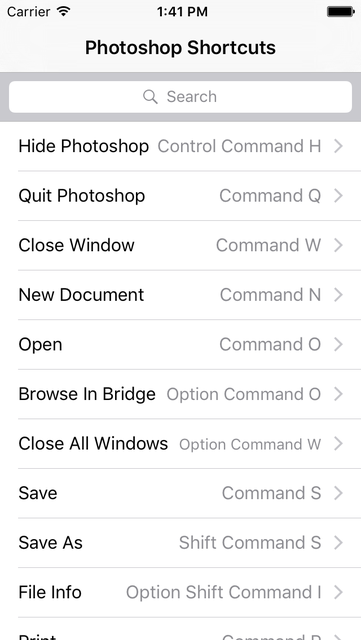 Shortcut: Photoshop Edition screenshot 1