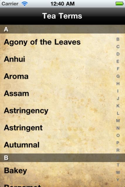 Tea Terms screenshot 2