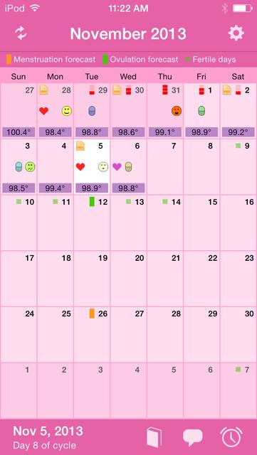 Menstrual Calendar Premium screenshot 1