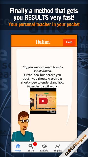 Learn Italian - MosaLingua screenshot 1