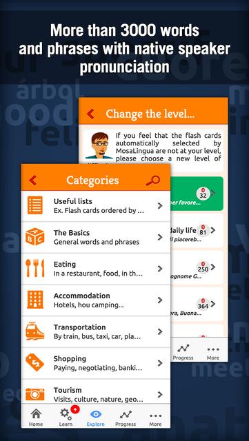 Learn Italian - MosaLingua screenshot 4