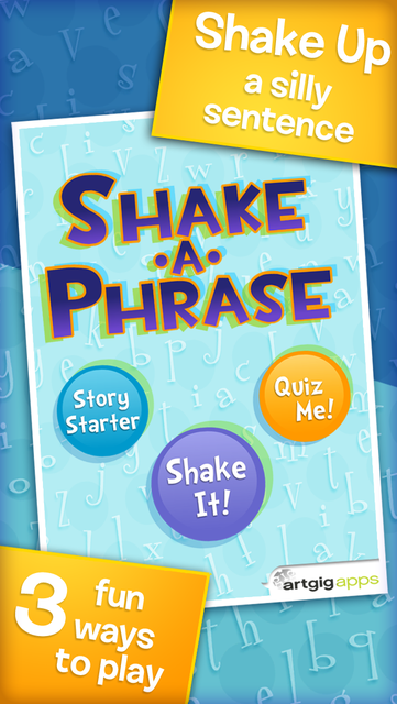 Shake-a-Phrase: Fun With Words and Sentences screenshot 1