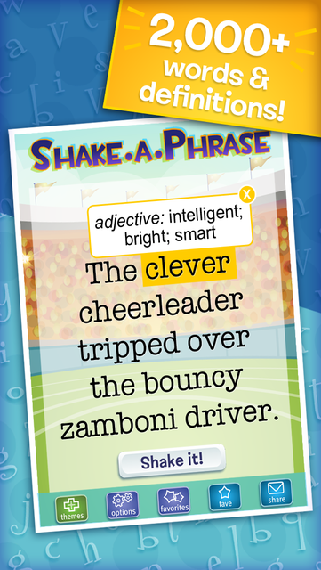 Shake-a-Phrase: Fun With Words and Sentences screenshot 2