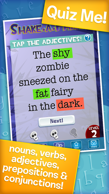 Shake-a-Phrase: Fun With Words and Sentences screenshot 4