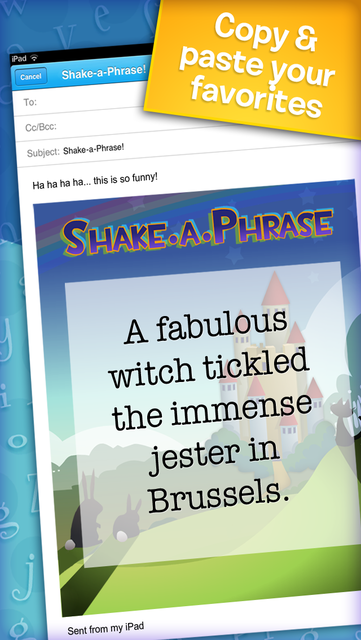 Shake-a-Phrase: Fun With Words and Sentences screenshot 5