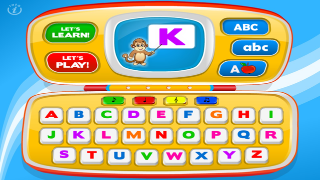 Letters Laptop A to Z · TeachMe Alphabet, ABC Letter Quiz and Letter Recognition, Flash Cards and Spelling Activities - Learning Reading School Games for Kids: Toddler, Preschool, Kindergarten by Abby Monkey® screenshot 3