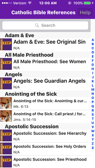 Catholic Bible References screenshot 1