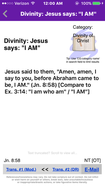 Catholic Bible References screenshot 2