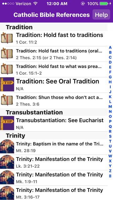 Catholic Bible References screenshot 5