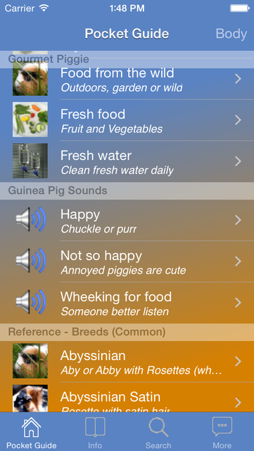 Pocket Guide Guinea Pigs screenshot 1