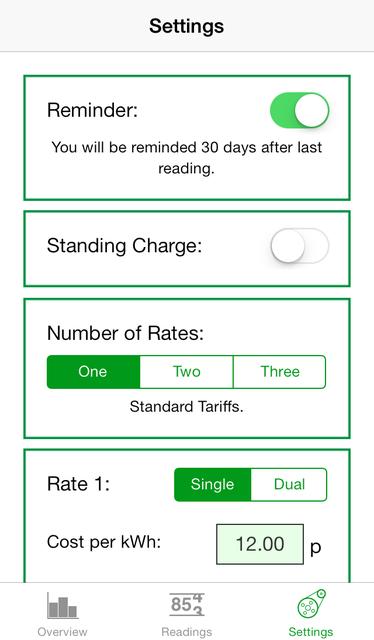 Electric Usage Tracker screenshot 2