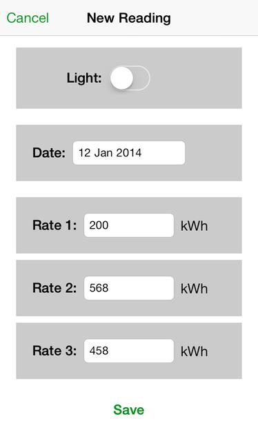 Electric Usage Tracker screenshot 3