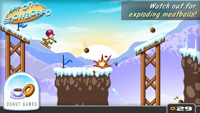 Rat On A Snowboard screenshot 5