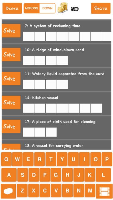 Easy Crossword Puzzle Pro screenshot 7