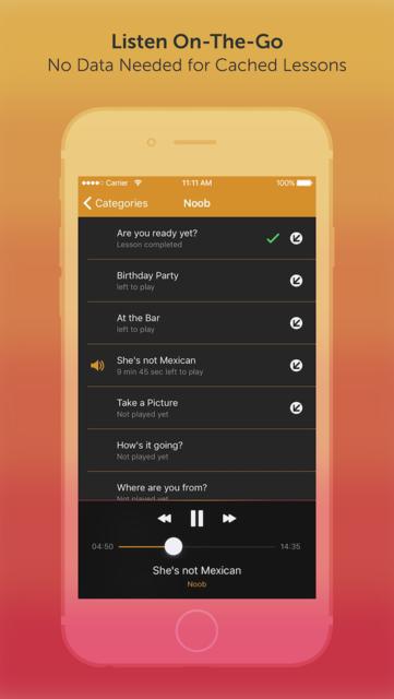 Learn Spanish - 290+ Audio Lesssons screenshot 2