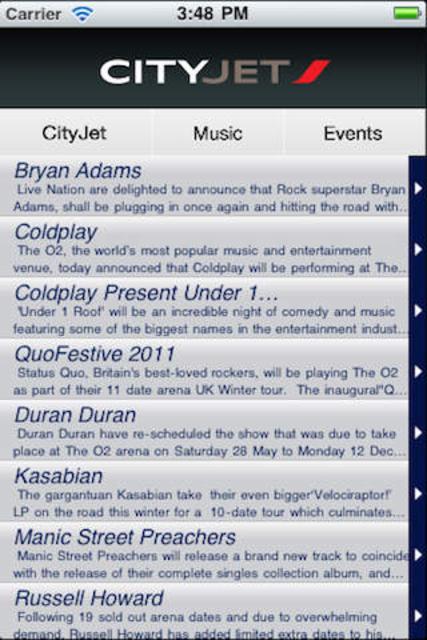 CityJet Music screenshot 3