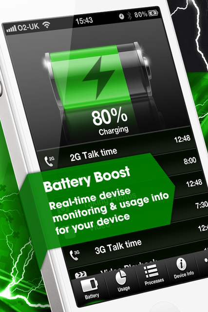 Device Monitor with Battery Time Estimates screenshot 1