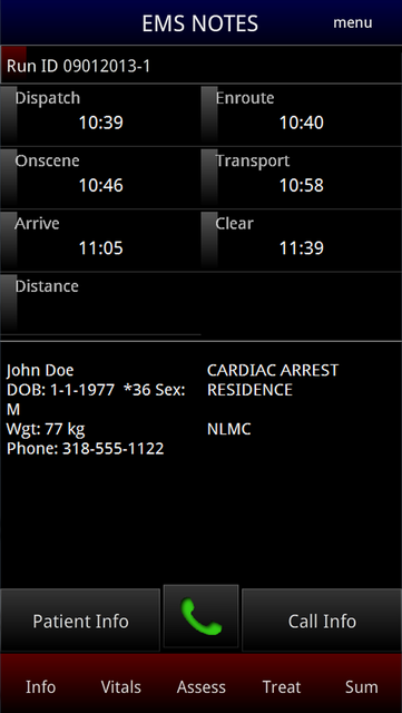 EMS Notes screenshot 1
