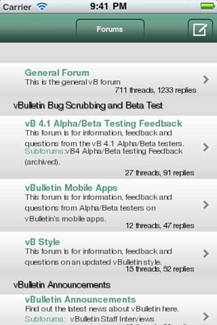 App For Vbulletin Forum
