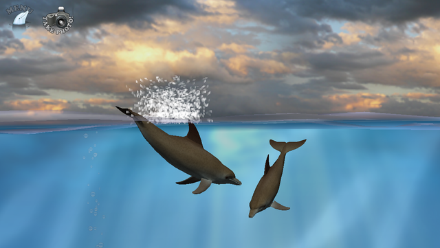 Dolphin Fingers! 3D Interactive Aquarium screenshot 1