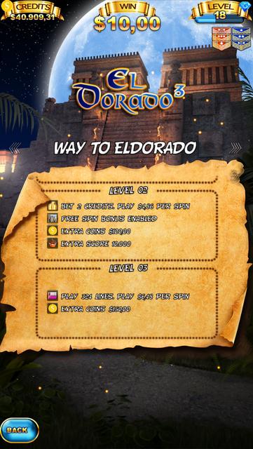 El Dorado 3 Slot Machine screenshot 5