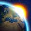 "3D Earth and Forecast in ""Weather Now"" app."