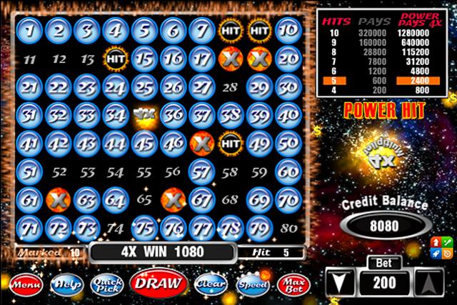 Power Nova Keno screenshot 2