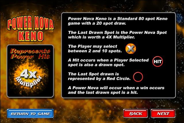 Power Nova Keno screenshot 5