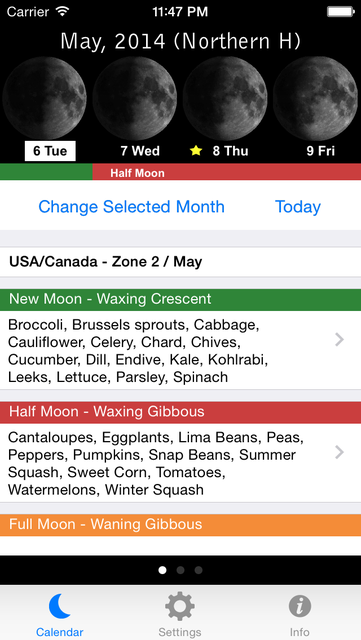 Lunar Planting Guide & Planner screenshot 1