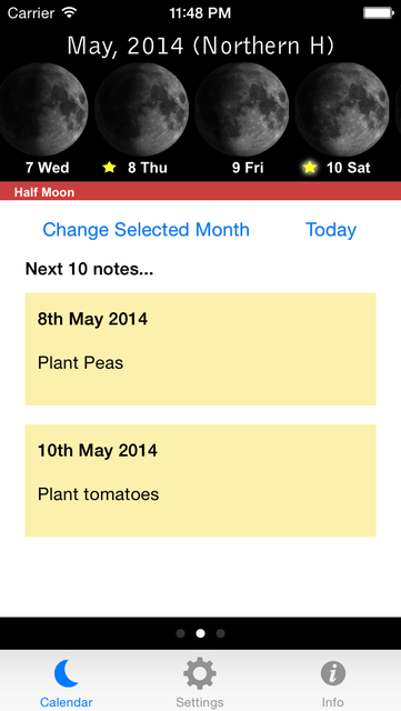 Lunar Planting Guide & Planner screenshot 2